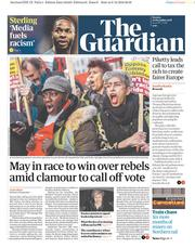 The Guardian (UK) Newspaper Front Page for 10 December 2018