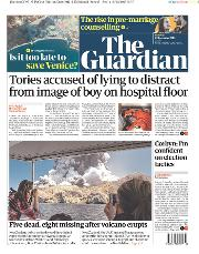 The Guardian (UK) Newspaper Front Page for 10 December 2019