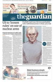 The Guardian (UK) Newspaper Front Page for 10 January 2018