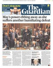 The Guardian (UK) Newspaper Front Page for 10 January 2019