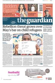 The Guardian (UK) Newspaper Front Page for 10 February 2017