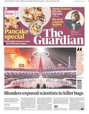 The Guardian (UK) Newspaper Front Page for 10 February 2018