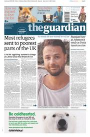 The Guardian (UK) Newspaper Front Page for 10 April 2017