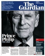 The Guardian front page for 10 April 2021