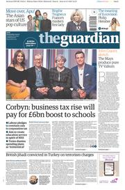 The Guardian (UK) Newspaper Front Page for 10 May 2017