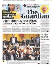The Guardian (UK) Newspaper Front Page for 10 May 2018