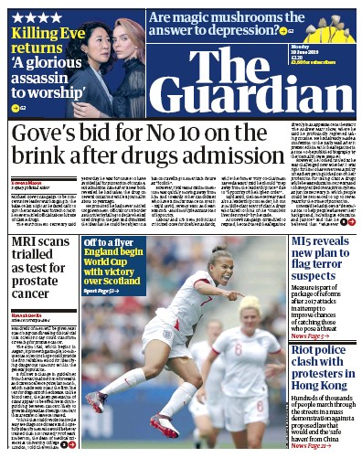 The Guardian Newspaper Front Page (UK) for 10 June 2019
