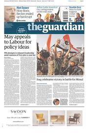 The Guardian (UK) Newspaper Front Page for 10 July 2017