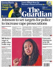 The Guardian front page for 10 August 2020