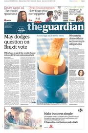 The Guardian (UK) Newspaper Front Page for 11 October 2017