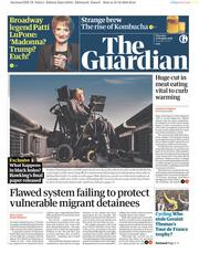 The Guardian (UK) Newspaper Front Page for 11 October 2018