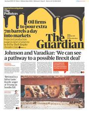 The Guardian (UK) Newspaper Front Page for 11 October 2019