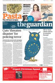 The Guardian (UK) Newspaper Front Page for 11 November 2017