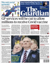 The Guardian front page for 11 November 2020