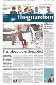 The Guardian (UK) Newspaper Front Page for 11 December 2017