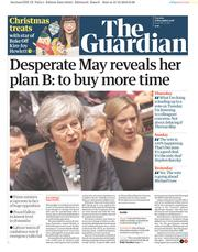 The Guardian (UK) Newspaper Front Page for 11 December 2018