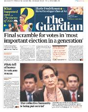 The Guardian () Newspaper Front Page for 11 December 2019