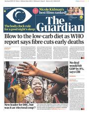 The Guardian (UK) Newspaper Front Page for 11 January 2019
