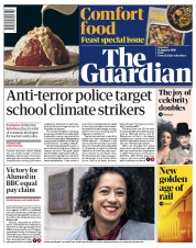 The Guardian (UK) Newspaper Front Page for 11 January 2020