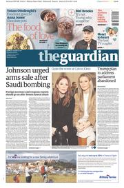 The Guardian (UK) Newspaper Front Page for 11 February 2017
