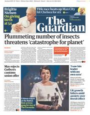 The Guardian (UK) Newspaper Front Page for 11 February 2019