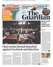 The Guardian (UK) Newspaper Front Page for 11 April 2018