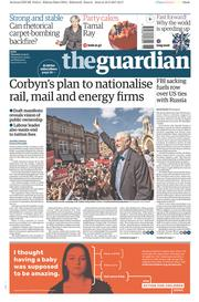 The Guardian (UK) Newspaper Front Page for 11 May 2017