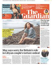The Guardian (UK) Newspaper Front Page for 11 May 2018