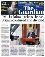 The Guardian (UK) Newspaper Front Page for 11 May 2020