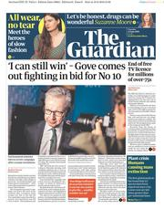 The Guardian (UK) Newspaper Front Page for 11 June 2019