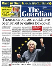 The Guardian (UK) Newspaper Front Page for 11 June 2020