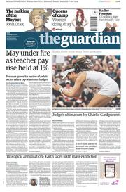The Guardian (UK) Newspaper Front Page for 11 July 2017
