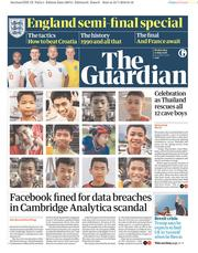 The Guardian (UK) Newspaper Front Page for 11 July 2018