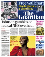 The Guardian front page for 11 July 2020