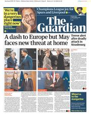 The Guardian (UK) Newspaper Front Page for 12 December 2018