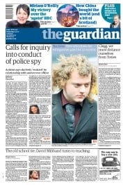 The Guardian (UK) Newspaper Front Page for 12 January 2011