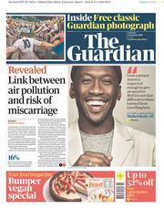 The Guardian (UK) Newspaper Front Page for 12 January 2019