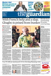The Guardian (UK) Newspaper Front Page for 12 April 2011