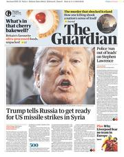 The Guardian (UK) Newspaper Front Page for 12 April 2018