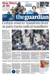The Guardian (UK) Newspaper Front Page for 12 May 2017