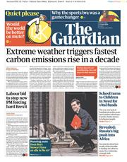 The Guardian () Newspaper Front Page for 12 June 2019