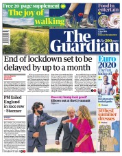 The Guardian () Newspaper Front Page for 12 June 2021