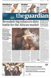 The Guardian (UK) Newspaper Front Page for 12 July 2017