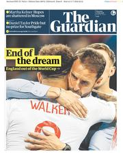 The Guardian (UK) Newspaper Front Page for 12 July 2018