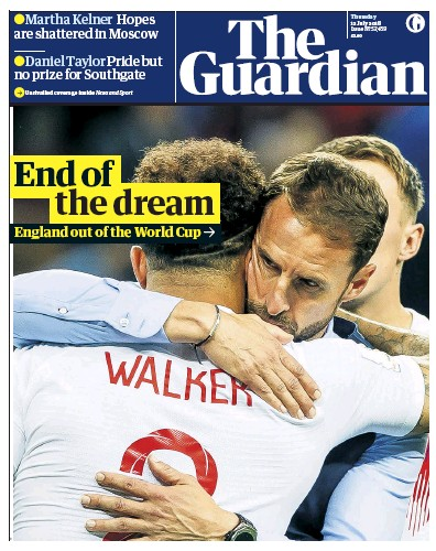 The Guardian Newspaper Front Page (UK) for 12 July 2018