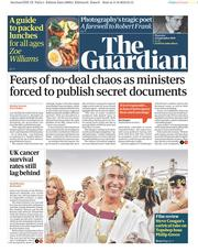 The Guardian () Newspaper Front Page for 12 September 2019