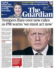 The Guardian front page for 13 October 2020