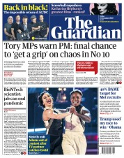 The Guardian front page for 13 November 2020