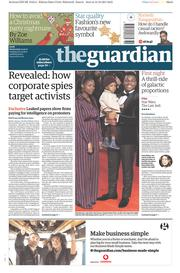 The Guardian (UK) Newspaper Front Page for 13 December 2017