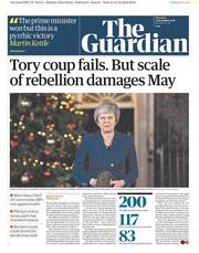 The Guardian (UK) Newspaper Front Page for 13 December 2018